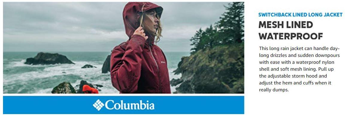 מעיל גשם קולומביה לנשים