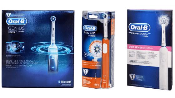 מברשות שיניים Oral-B במחירים מעולים