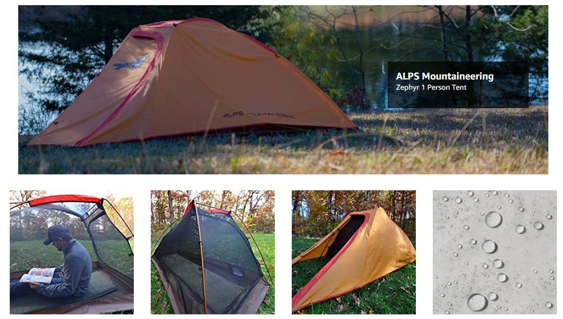 אוהל יחיד ALPS Mountaineering Zephyr