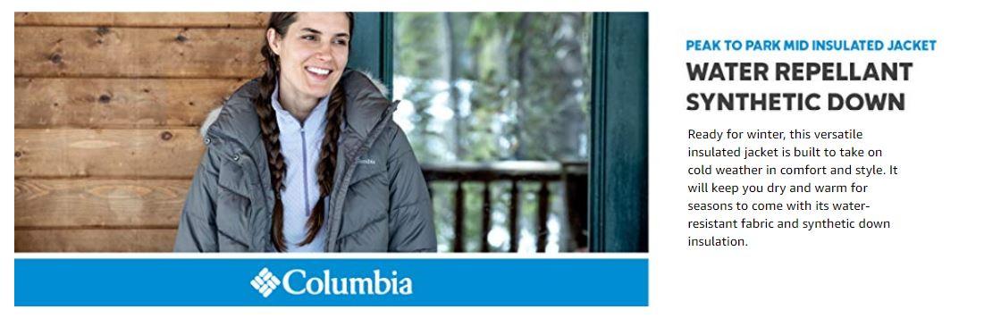 מעיל קולומביה Columbia Peak to Park