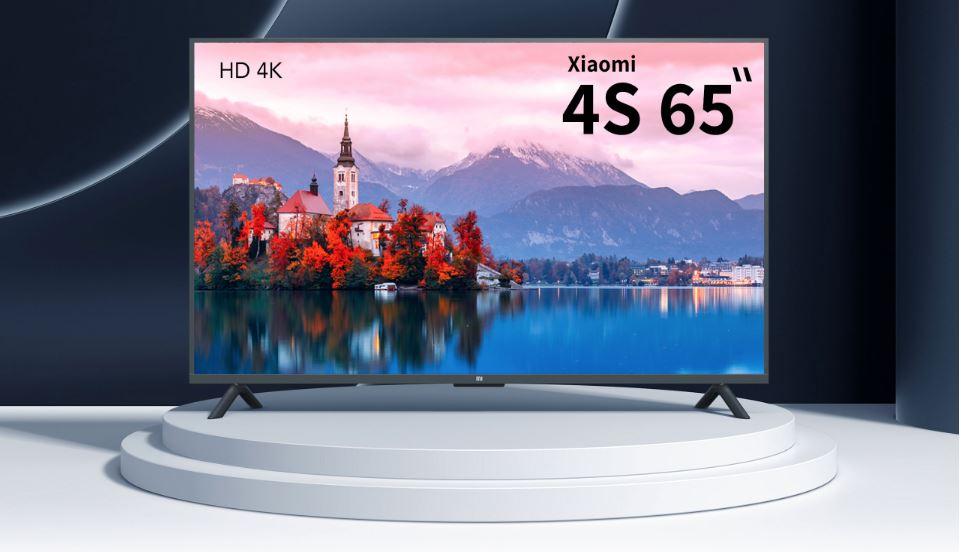 """טלוויזיה חכמה 65"""" דגם Xiaomi Mi TV UHD-4K 4S"""