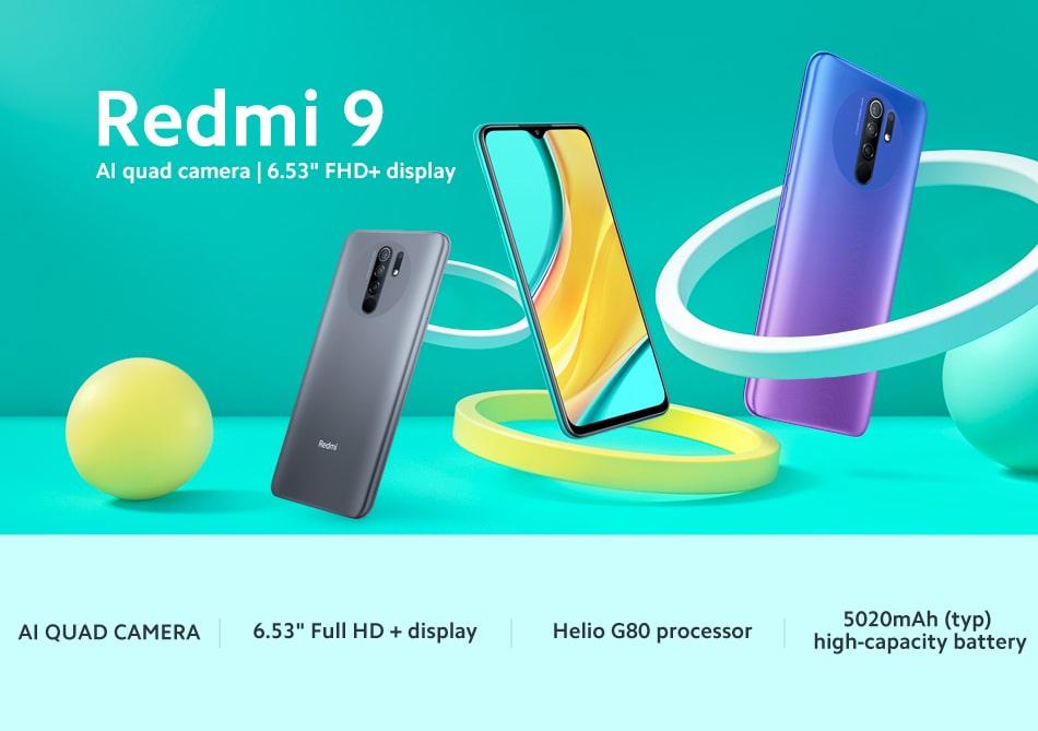 Xiaomi Redmi 9 דגם 4GB 64GB