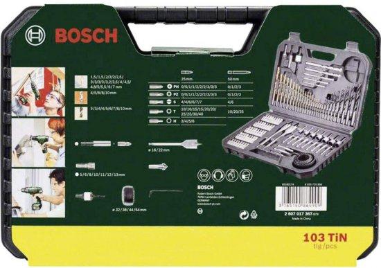 סט ביטים 103 חלקים מסידרת Bosch V-LINE