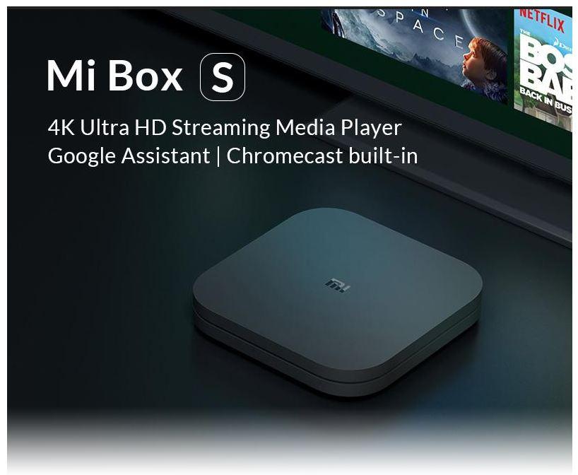 סטרימר Xiaomi Mi Box s עם 2GB / 8GB