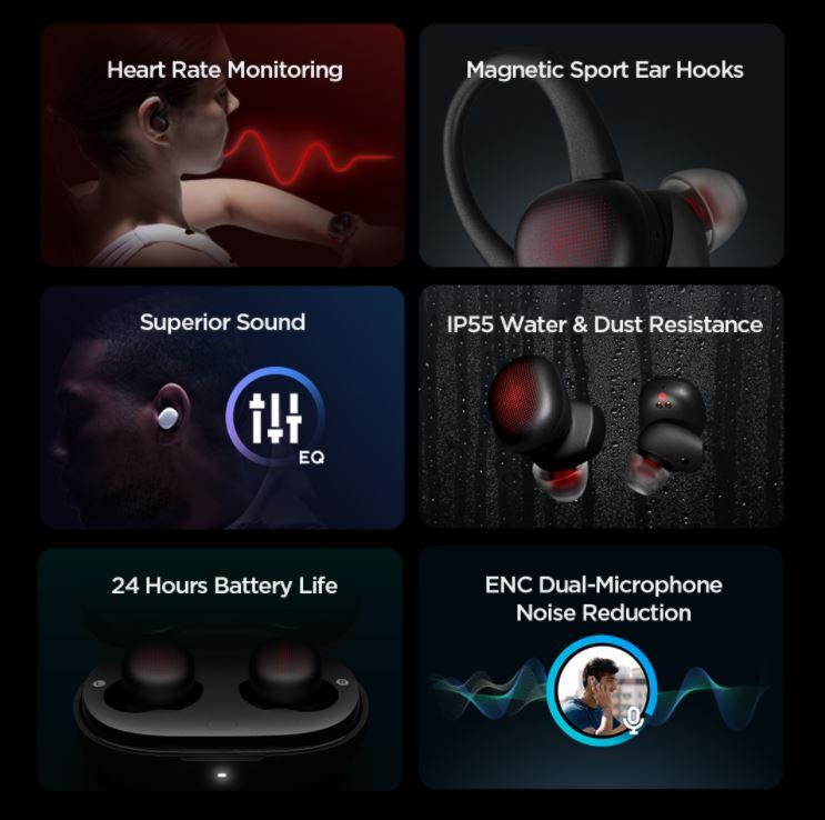 אוזניות ספורט Amazfit Powerbuds TWS