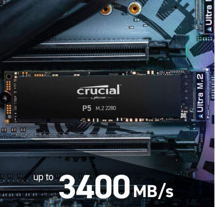 כונן SSD פנימי Crucial P5 בנפח 500GB
