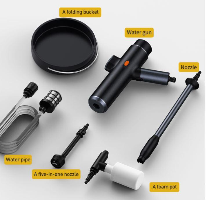 מכשיר שטיפה אלחוטי נטען בלחץ גבוה Baseus