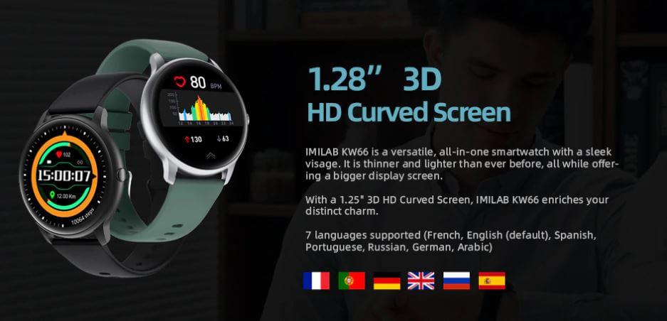 Imilab KW66 מסך 1.28 אינץ