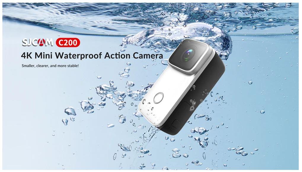 SJCAM C200 עמידה למים עד 5 מטר ללא קייס