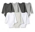 סט 8 בגדי גוף של קרטר'ס לתינוקות צבעים שחור, לבן אפור במבחר מידות